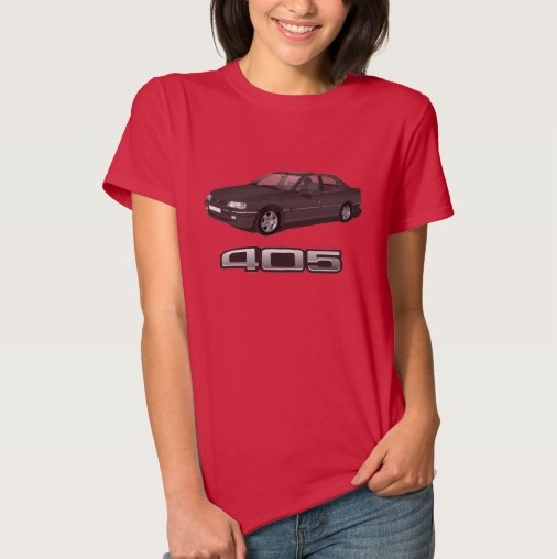 Peugeot 405 t-shirt badge