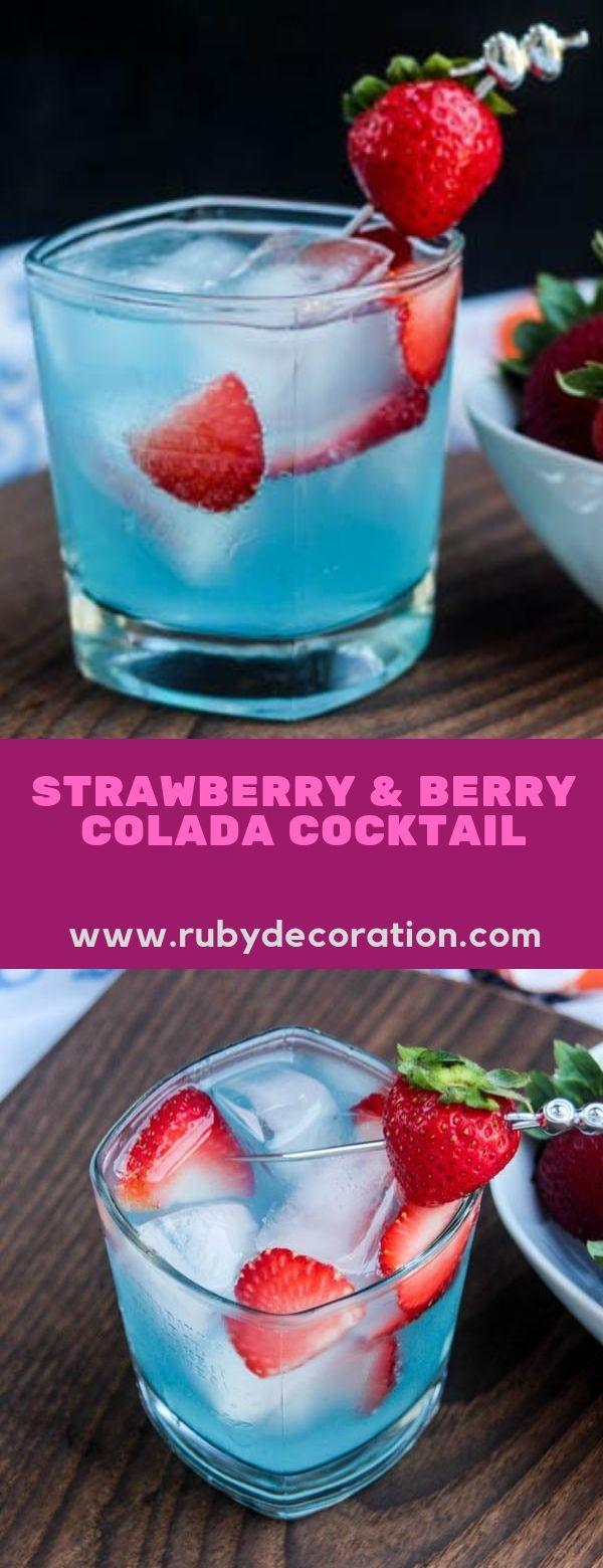 Strawberry & Berry Colada Cocktail