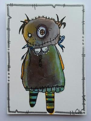 Whoopidooings: Junker Jane Style monster - ATC #2