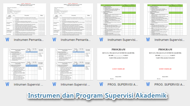 Instrumen dan Program Supervisi Akademik