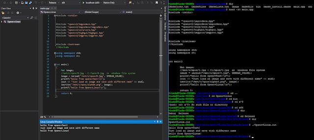 linux development in visual studio
