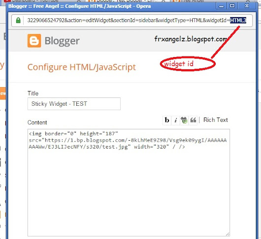 How to Make Any Blogger Widget/Gadget/web element Sticky (float) | Freak Angelz