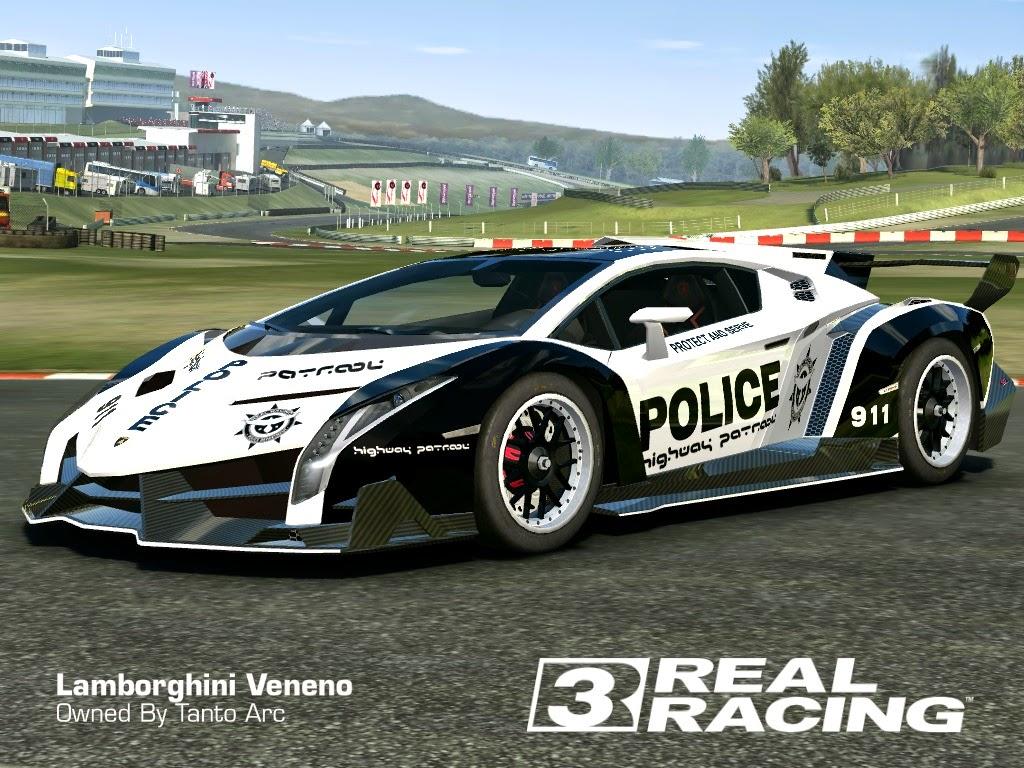 real racing 3 skin: 2013_lamborghini_veneno-skin police