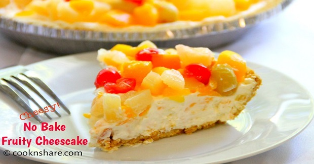 No Bake Fruit Cheesecake Recipe