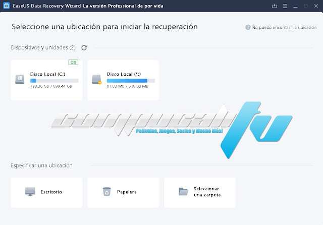 EaseUS Data Recovery Wizard Professional Versión Full Español