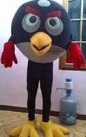kostum black angry bird hitam