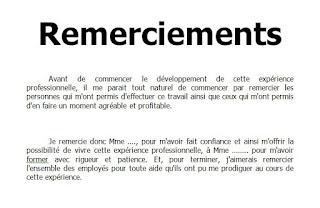 Remerciement Rapport De Stage Cours Génie Civil Outils