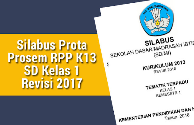 Silabus Prota Prosem RPP K13 SD Kelas 1 Revisi 2017