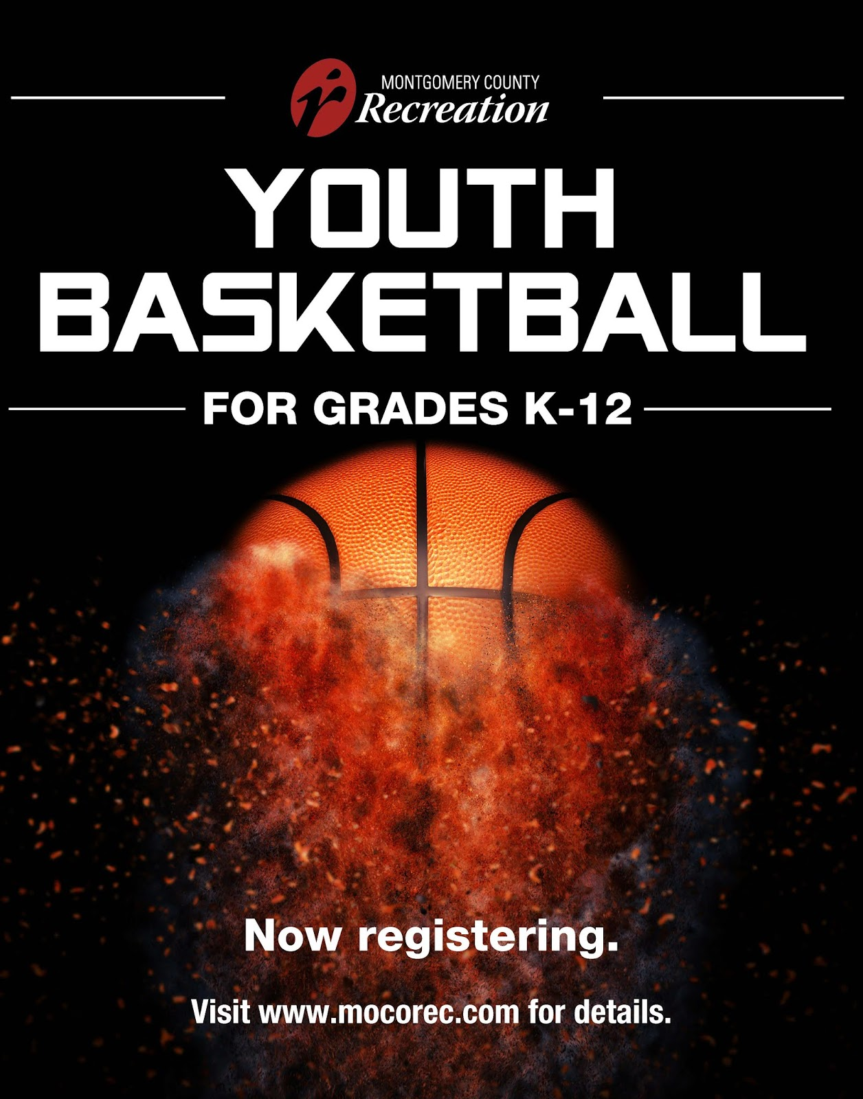 registration is now underway for montgomery county recreation s youth basketball leagues