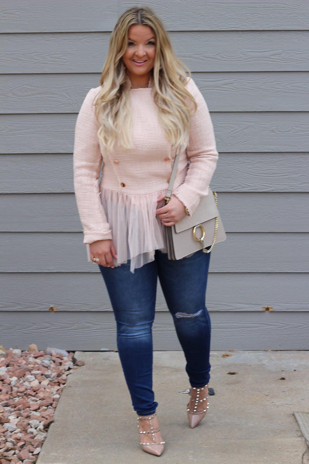 ballerina jacket  styled by popular Denver fashion blogger, Delayna Denaye