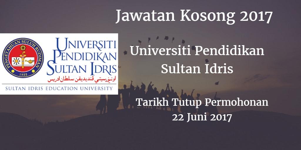 Jawatan Kosong UPSI 22 Juni 2017