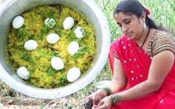 Eggs Biryani- Amazing Traditional Eggs Biryani Recipe- Hyderabadi Egg Biryani- South Indian Cooking