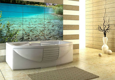 best 3D bathroom floor tile design ideas for modern home flooring 2019