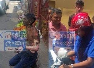 A youth set himself on fire in moratuwa