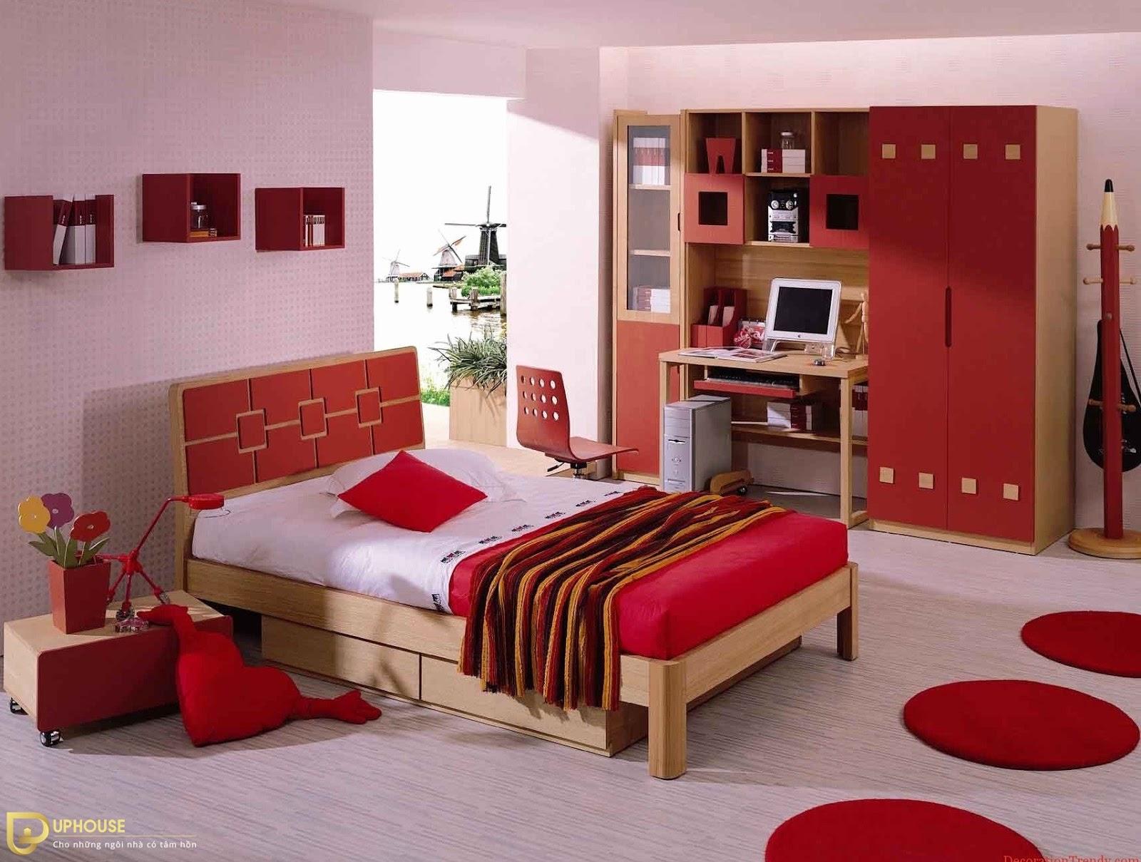Màu sơn phòng ngủ mệnh Hỏa 09