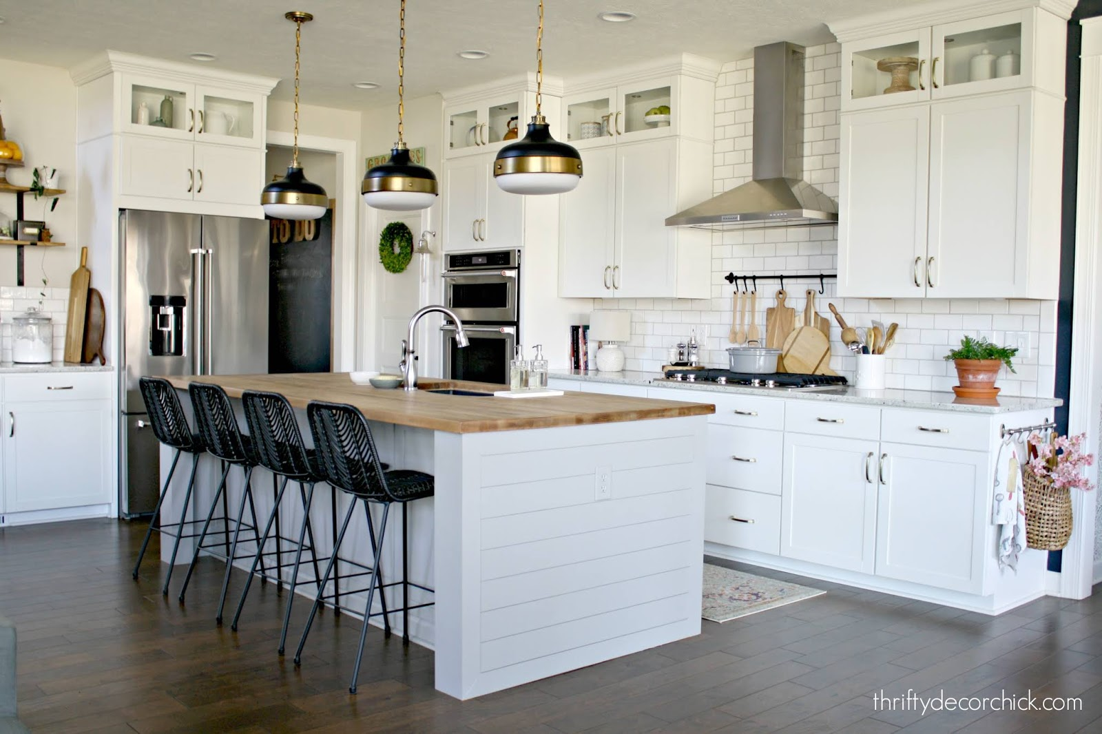 Customizing kitchen island with side panels and legs