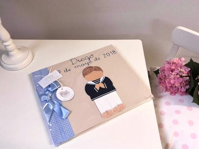 álbum libro firmas  niño primera comunión