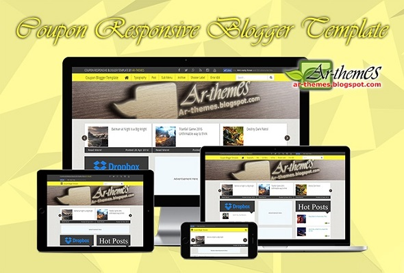 Coupon Responsive Blogger Template Preview