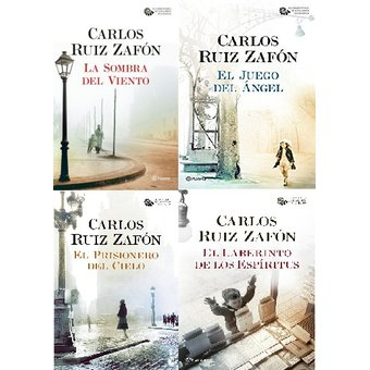 Tetralogía El Cementerio De Los Libros Olvidados Carlos Ruiz Zafón La Dimensión Amarilla