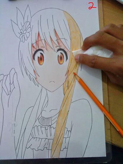 Teknik Mewarnai Gambar Rambut Dengan Pensil Warna Jcp