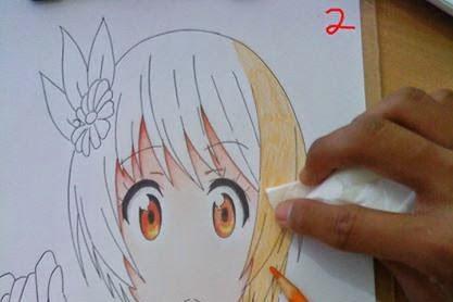 Cara Mewarnai Gambar Anime