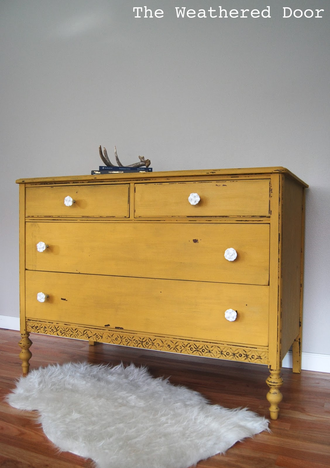 Greatest A chippy, mustard yellow dresser - The Weathered Door OL26
