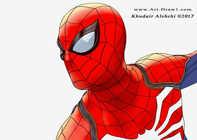 كيفية رسم سبايدر مان الرجل العنكبوت