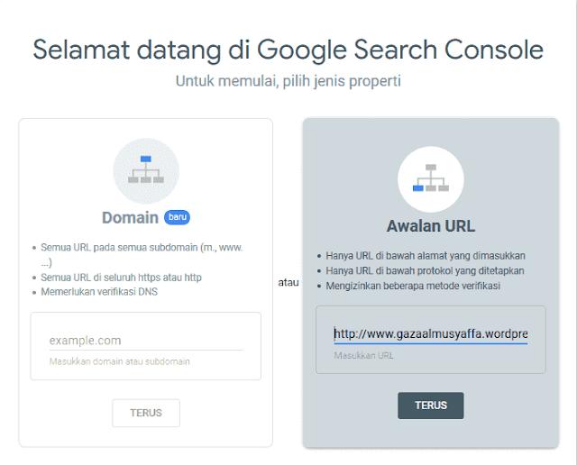 Verifikasi website di Google Webmaster
