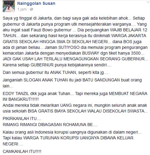 Curhat pengguna facebook