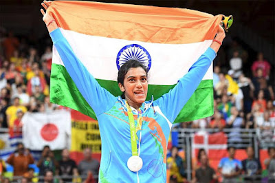Olympic Star P.V.Sindhu Conferred Rajiv Gandhi Khel Ratna Award