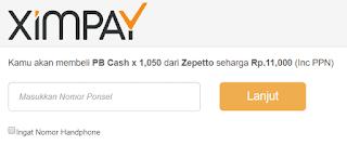 Cara Top Up Cash PB Zepetto Dengan Pulsa Tri, XL/Axis, IM3