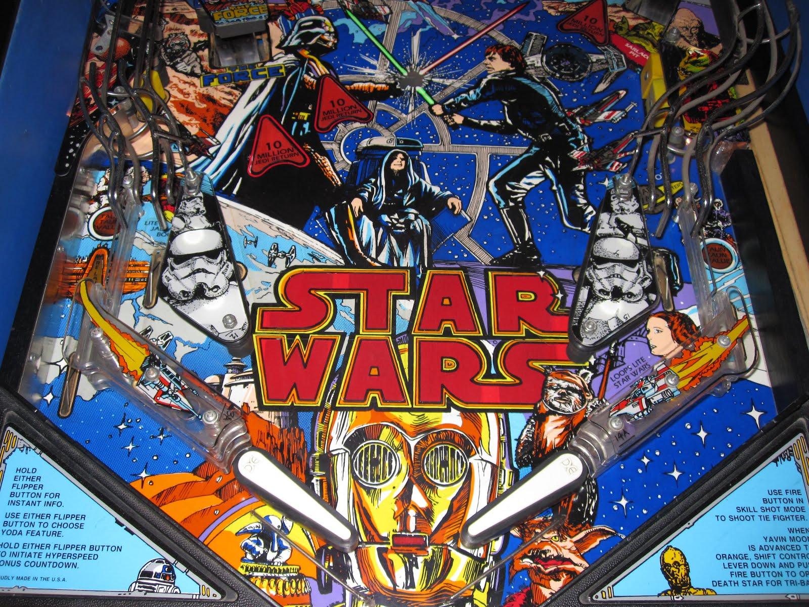 Original Pinball Star Wars Data East 1992
