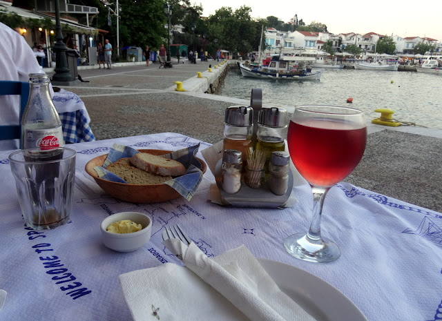 Fish Market Taverna - Old Port in Skiathos Island, Greece