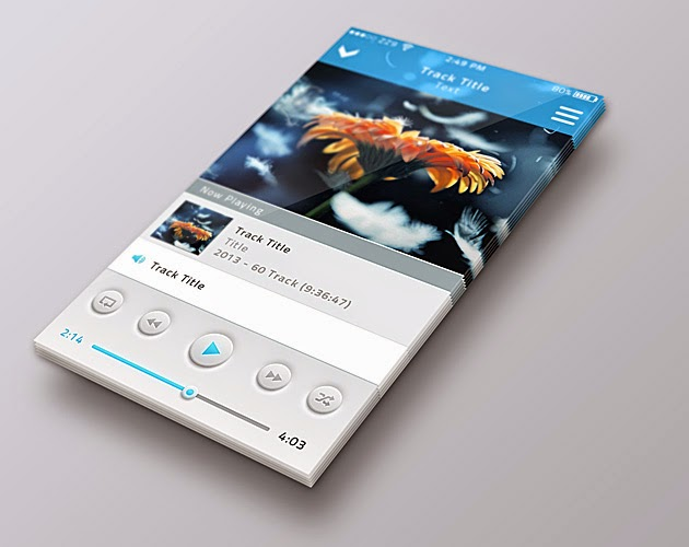 Perspective Mobile Screen Mock-up PSD