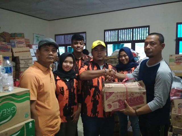 PAC Pemuda Pancasila Kalianda Salurkan Bantuan Kepada Korban Tsunami