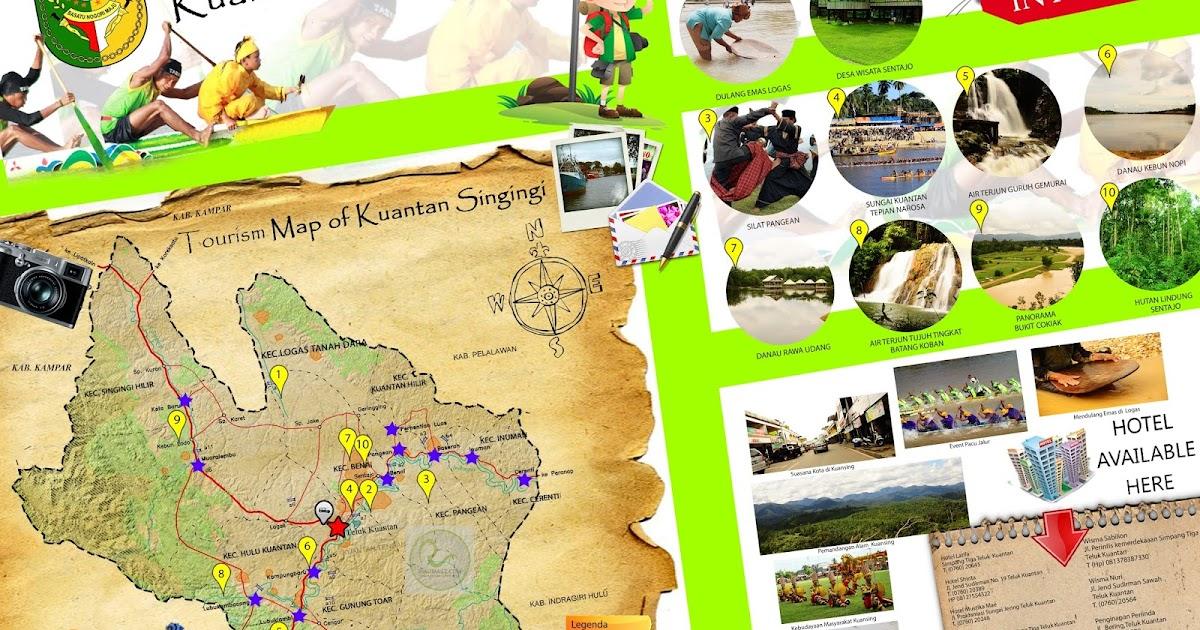 Peta Wisata Kabupaten Kuantan Singingi (Kuansing ...