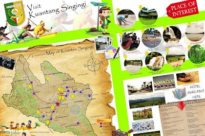 Peta Wisata Kabupaten Kuantan Singingi (Kuansing) - Tourism Map of Kuantan Singingi - Riau - Indonesia