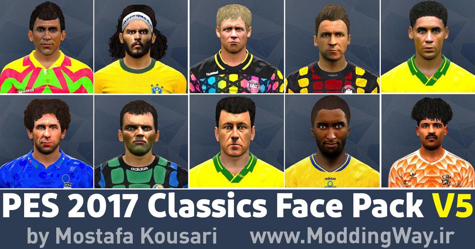 PES 2017 Classics FacePack V5 by Mostafa Kousari