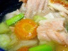 Resep praktis (mudah) sup ikan salmon spesial (istimewa) enak, gurih, lezat