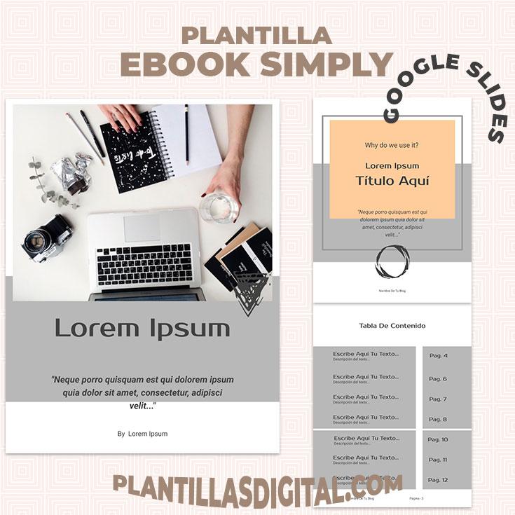 plantilla ebook simply para google slides