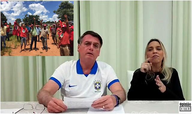 Bolsonaro diz que invasores de terras são terroristas