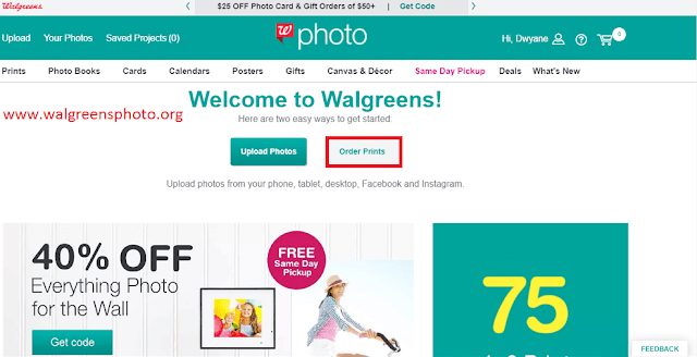 How do you order prints at Walgreens Photo