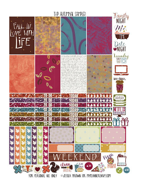 Autumnal Sampler for the Happy Planner from myplannerenvy.com