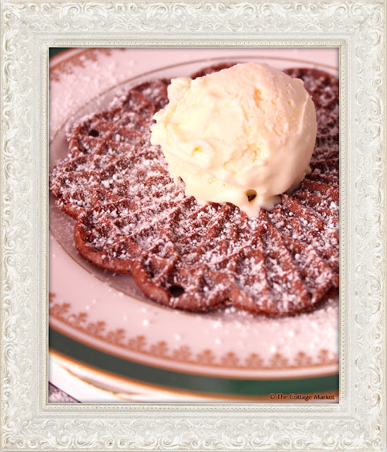 This pizzelle served with ice cream makes the best dessert.