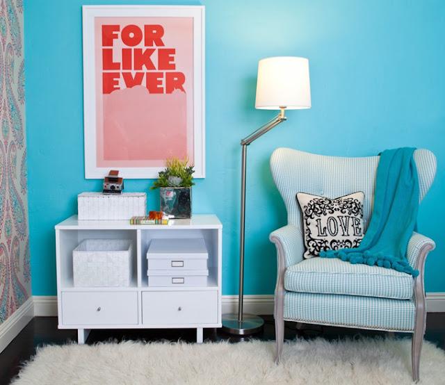 blog de decoração, dicas para decorar quarto, decoração em azul turquesa