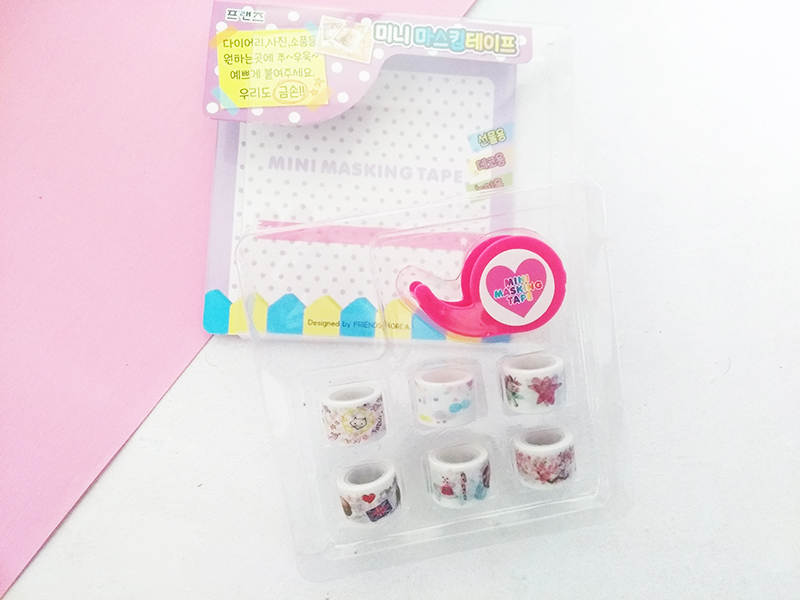 Korean Mini Washi tape kawaii box