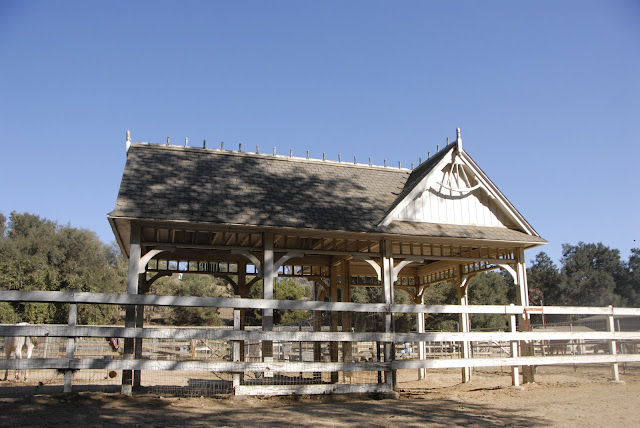 gazebo on horse ranch
