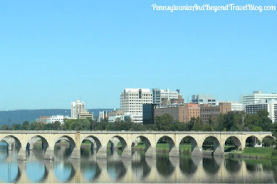 Harrisburg City Skyline and Susquehanna River Bridges