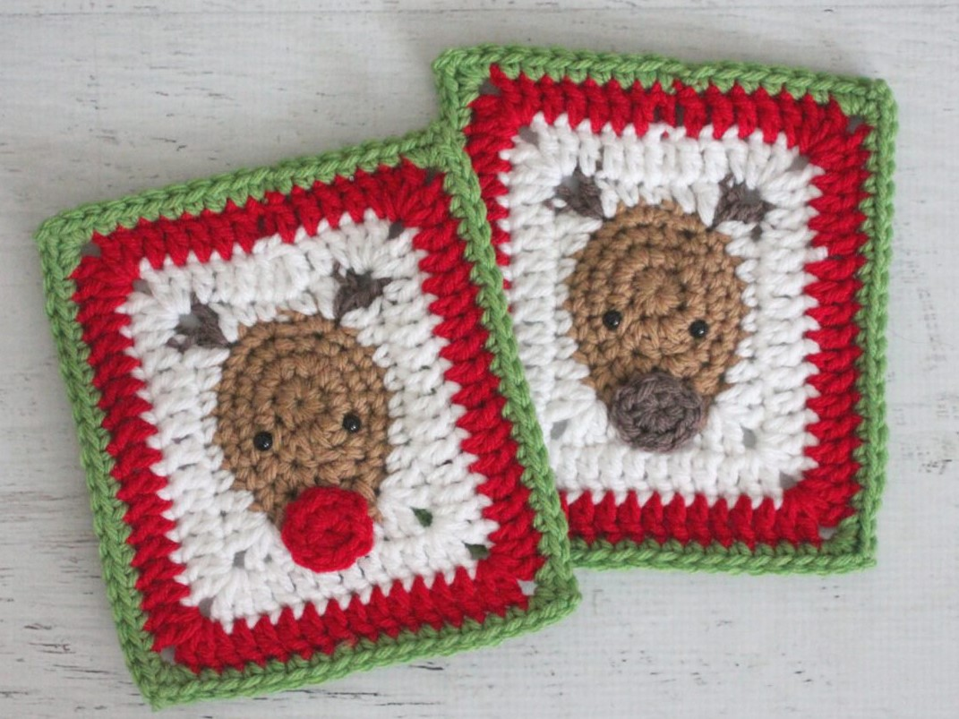 12 Free Christmas Winter Holidays Granny Square Patterns Crafting
