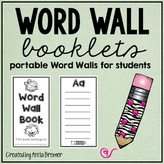 Student word booklets for the writing center